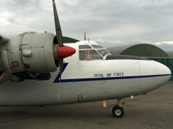 A Royal Air Force aeroplane on display